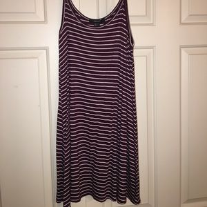 Forever 21 maroon dress with straps